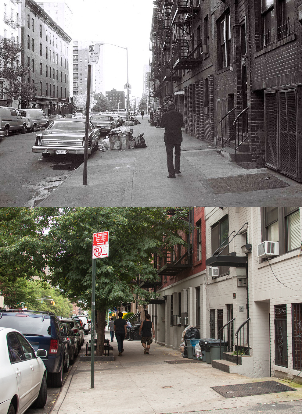 This is the street that I lived on in the late 70's. East 4th Street between 1st and 2nd Avenue. I had a five floor walkup, the entrance is where the white lintel overhangs the doorway.