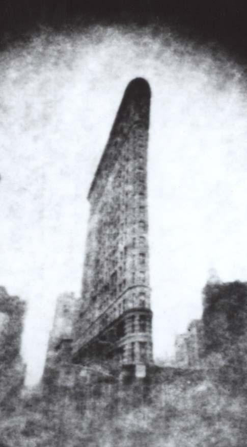 An enlargement of the Flatiron Building photograph