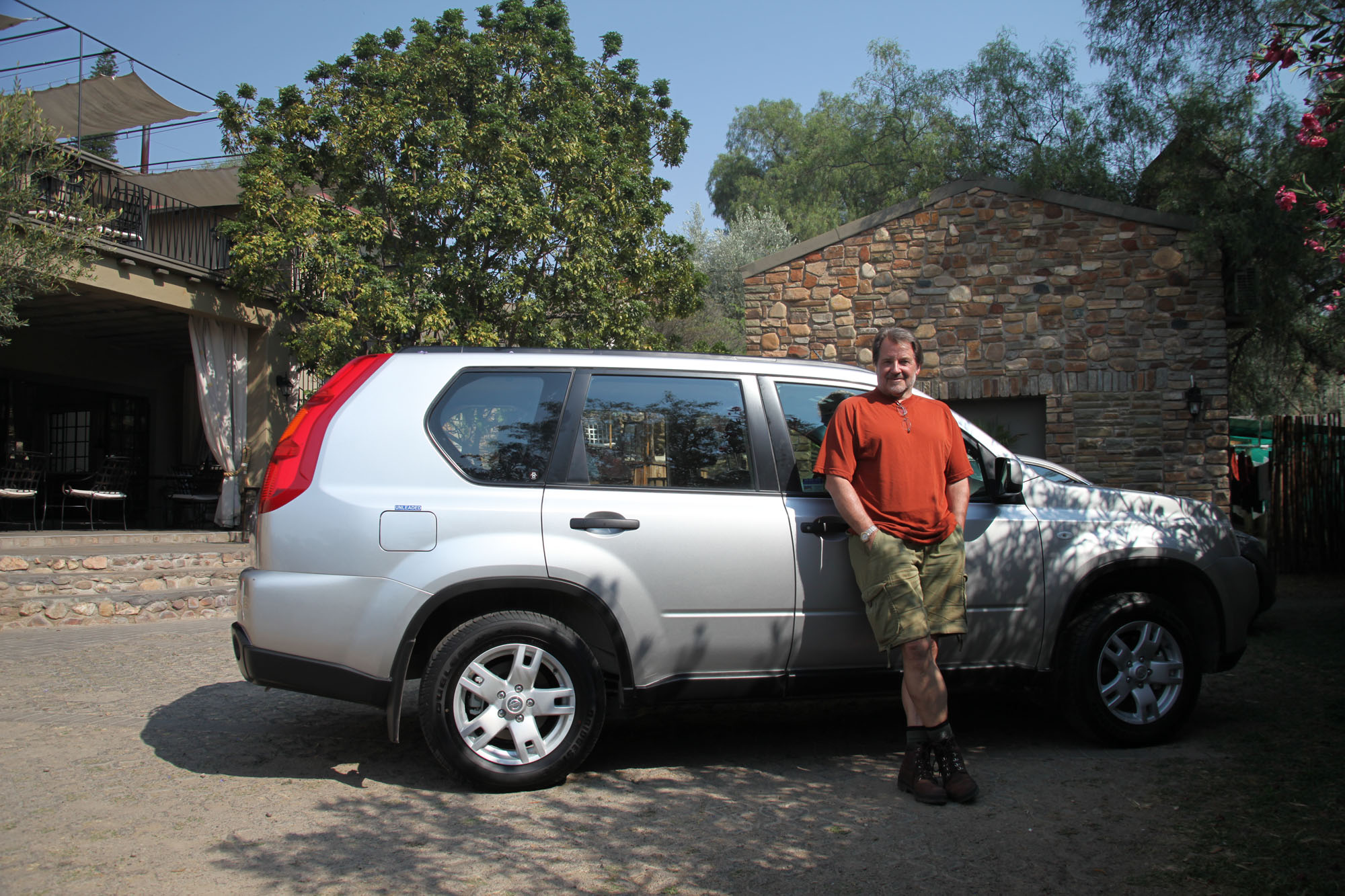 Ready for our trip into the vast unknown Namibian outback