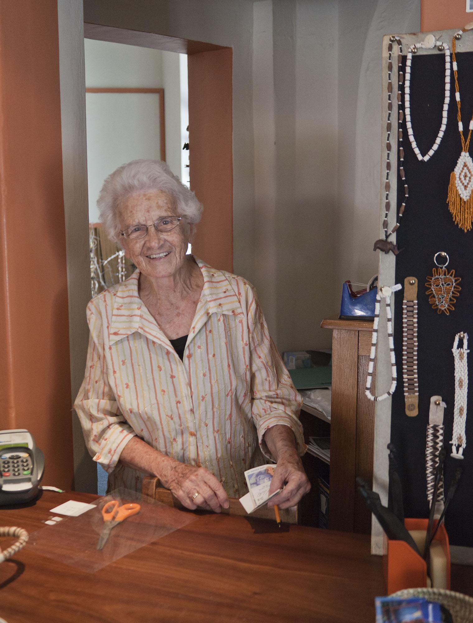 Alma in her shop