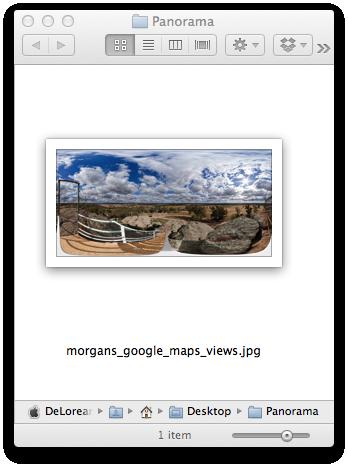Equirectangular image without metadata
