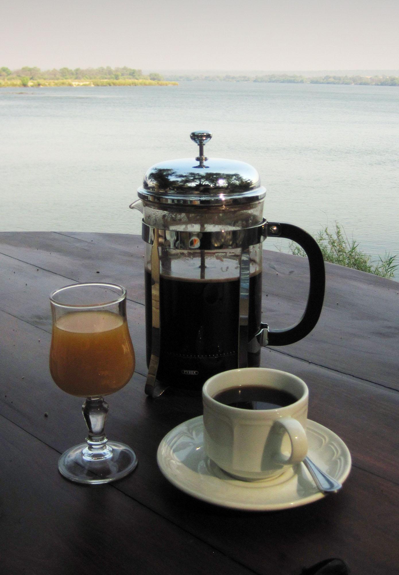 Breakfast by the Zambezi River