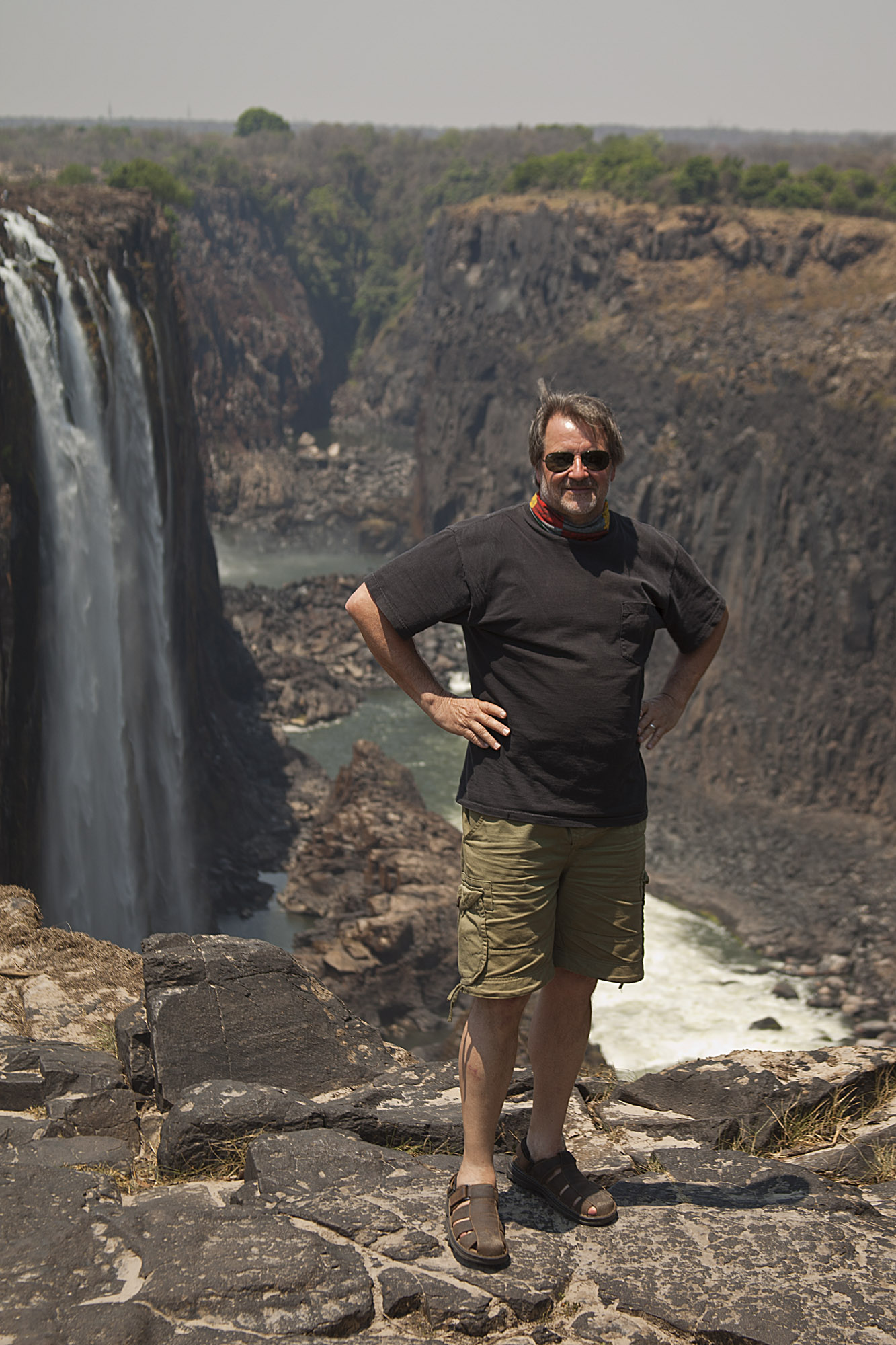 Yours truly at the edge of the falls