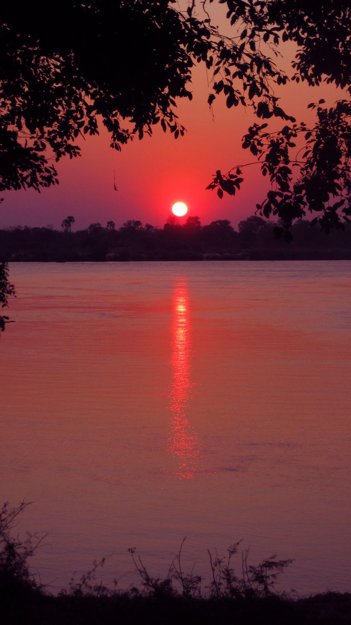Sunset over the Zambezi River