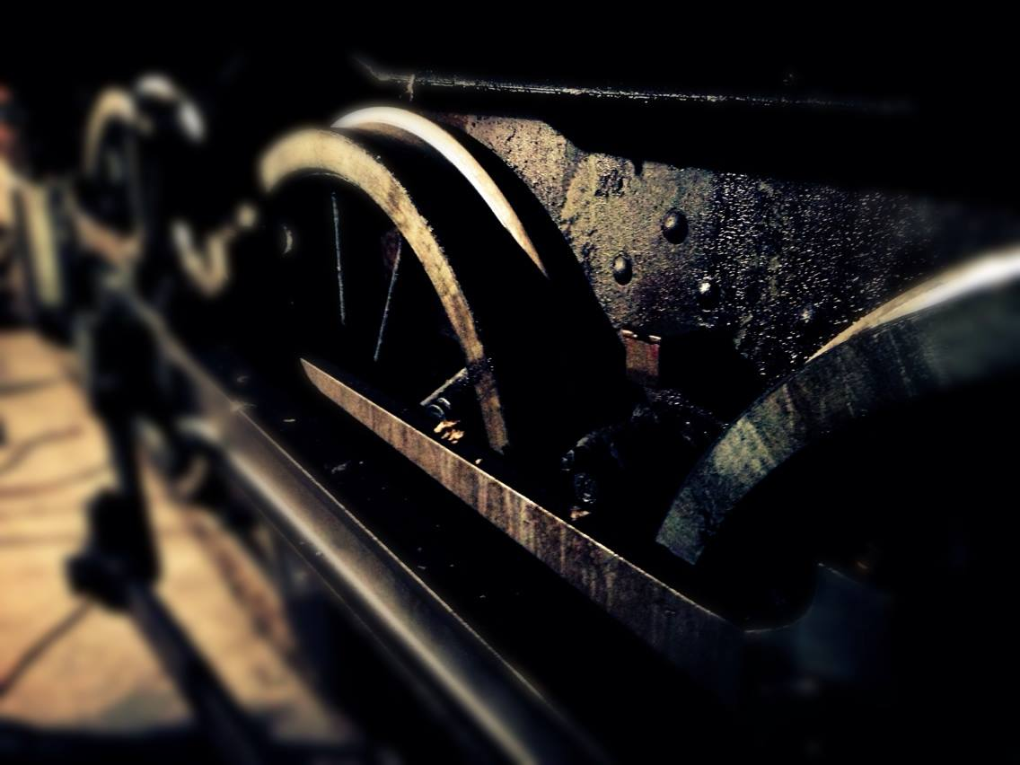 Locomotive wheels - in the workshop