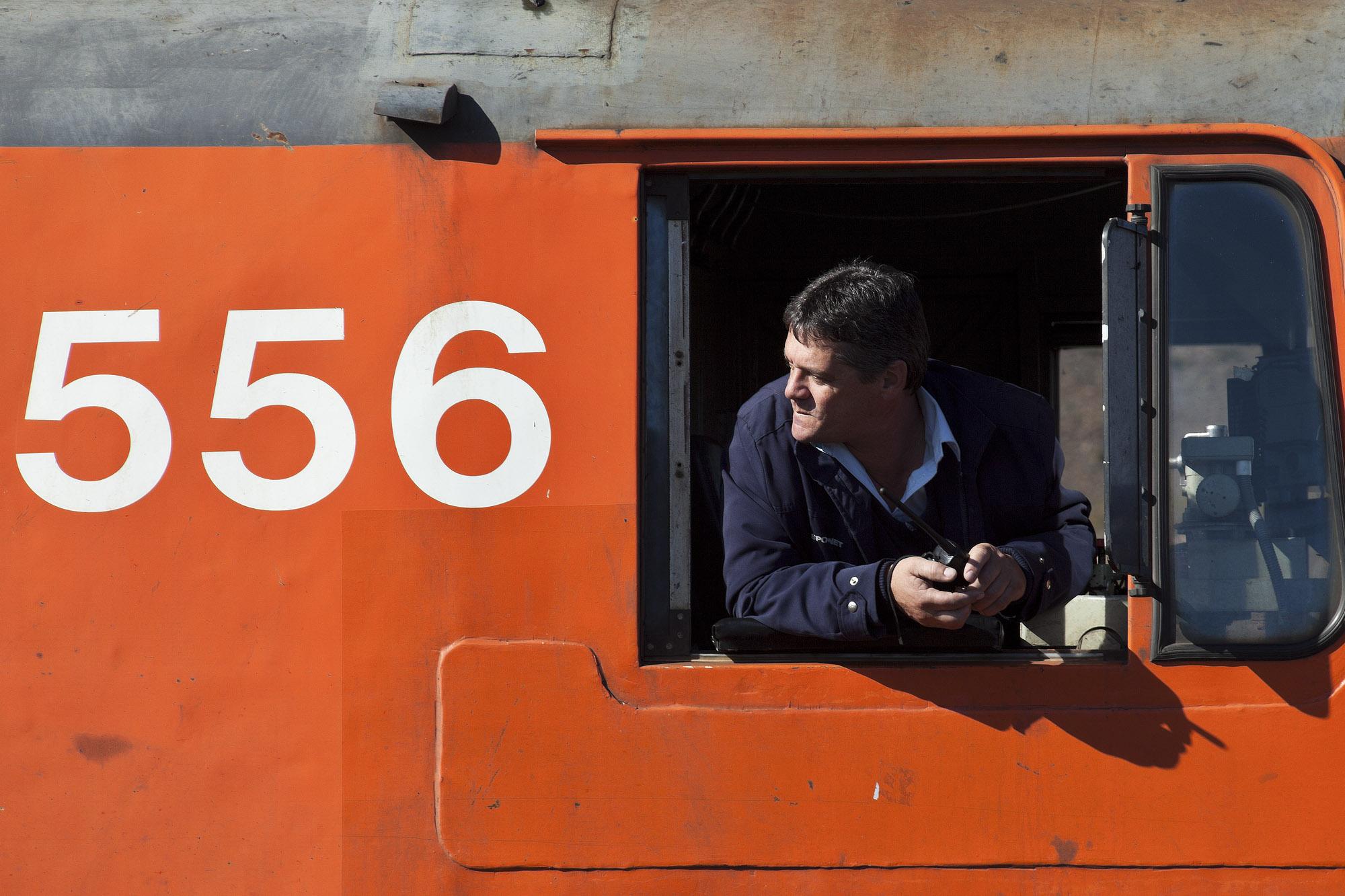 Our Rovos Rail train driver