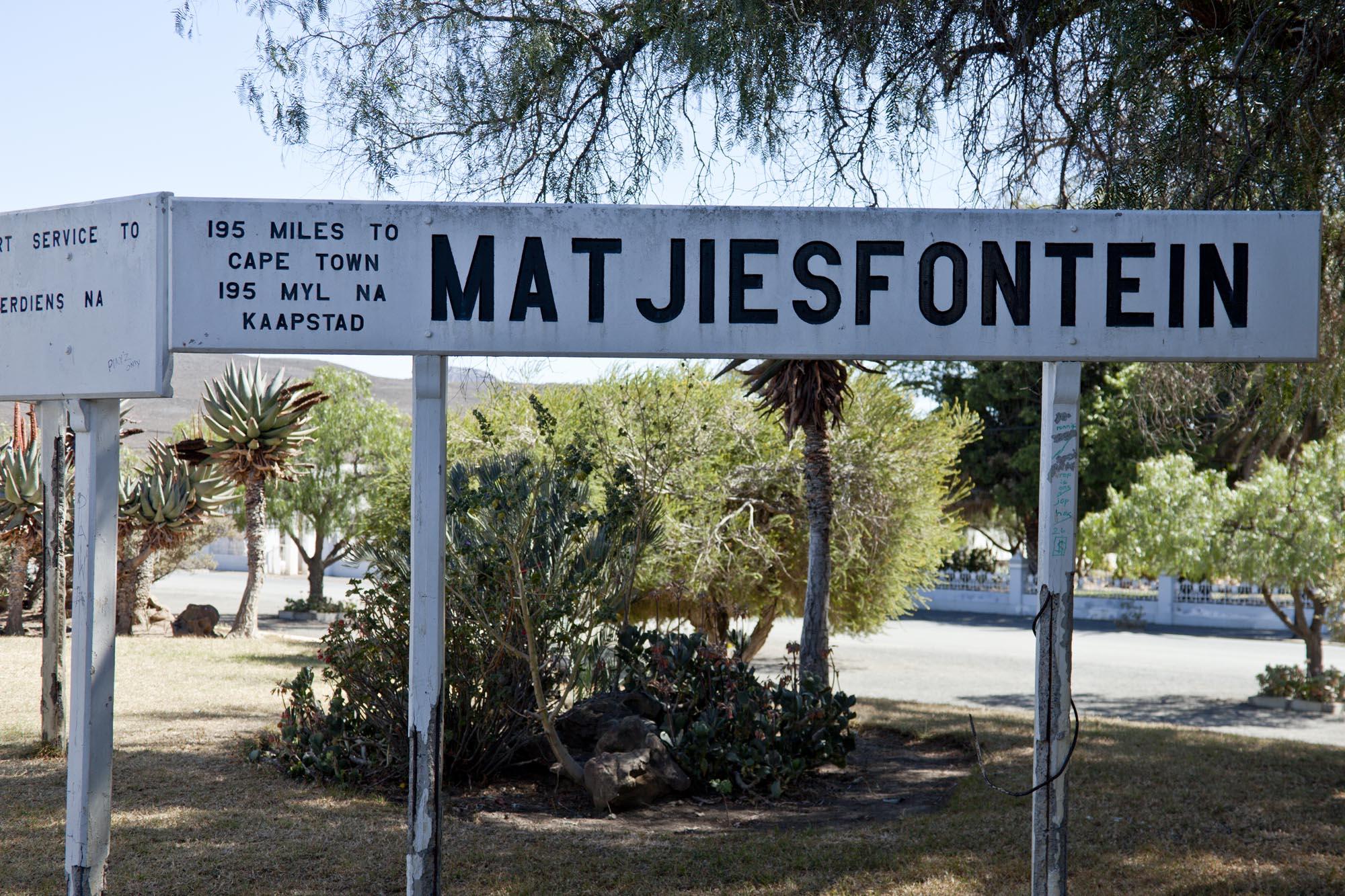Matjiesfontein Station Sign