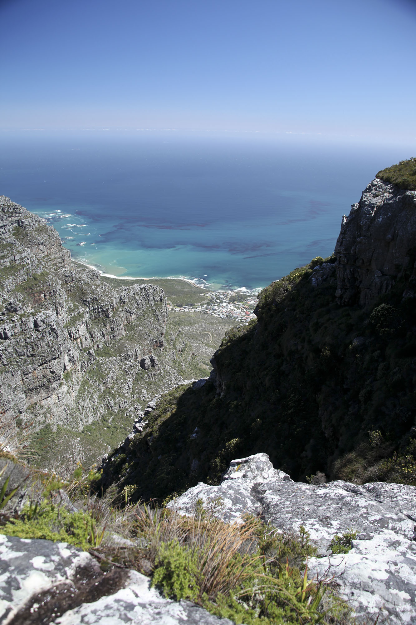 A view of Camps Bay from the top of Table Mountain