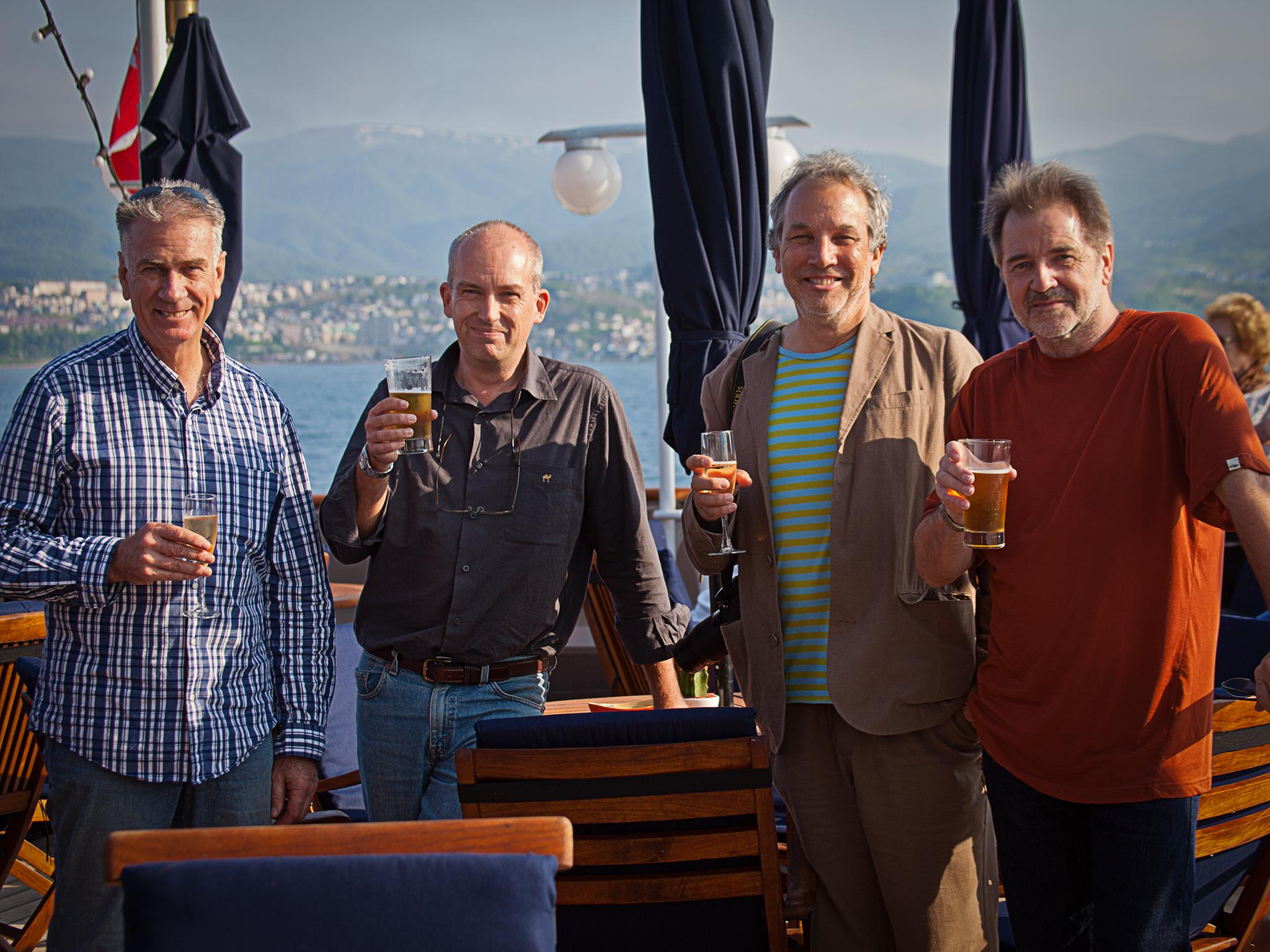 Left to right: Peter de Vries, Nick Rains, Dr David Silverberg and yours truly.