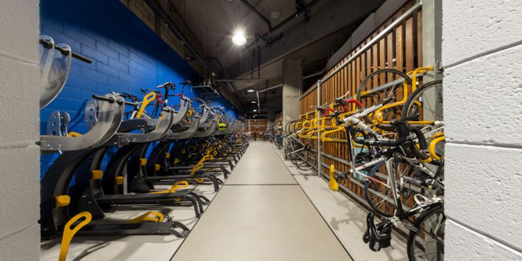 Bicycle Locker:  View from Locker Room