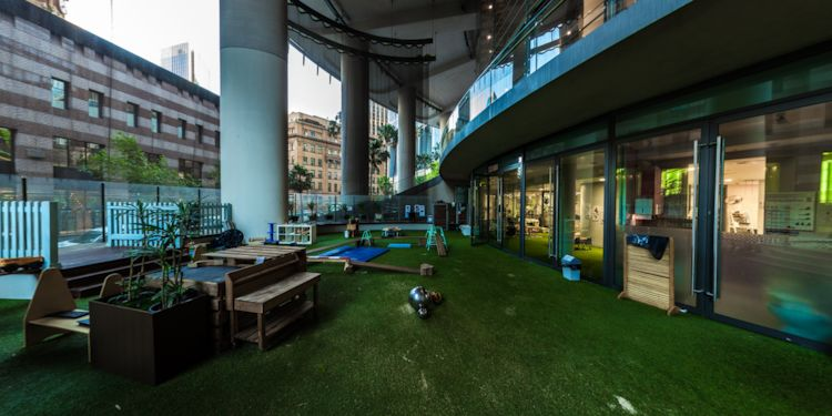 Outdoor Play area [View from Sandpit]