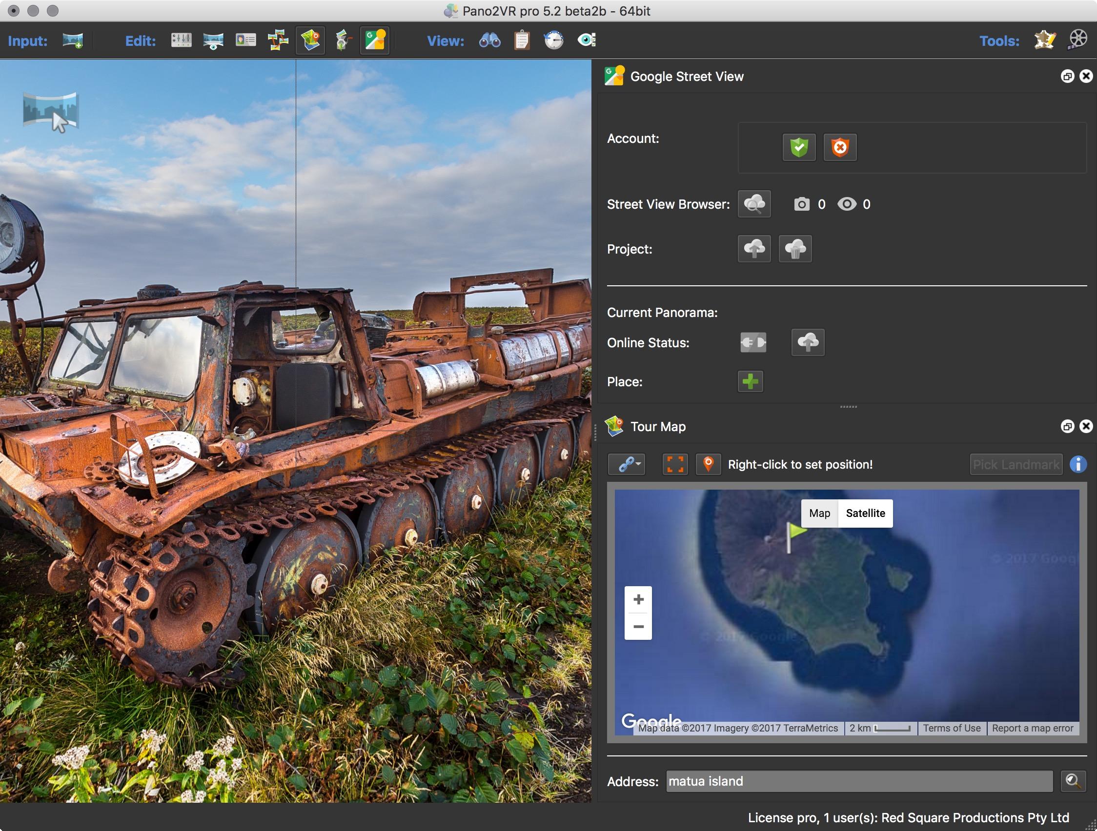 Pano2VR5.2beta2b Google Street View interface