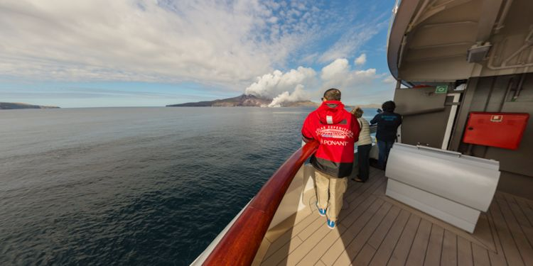 RFE: Chirpoy Island - Viewing Snow Volcano from the bridge