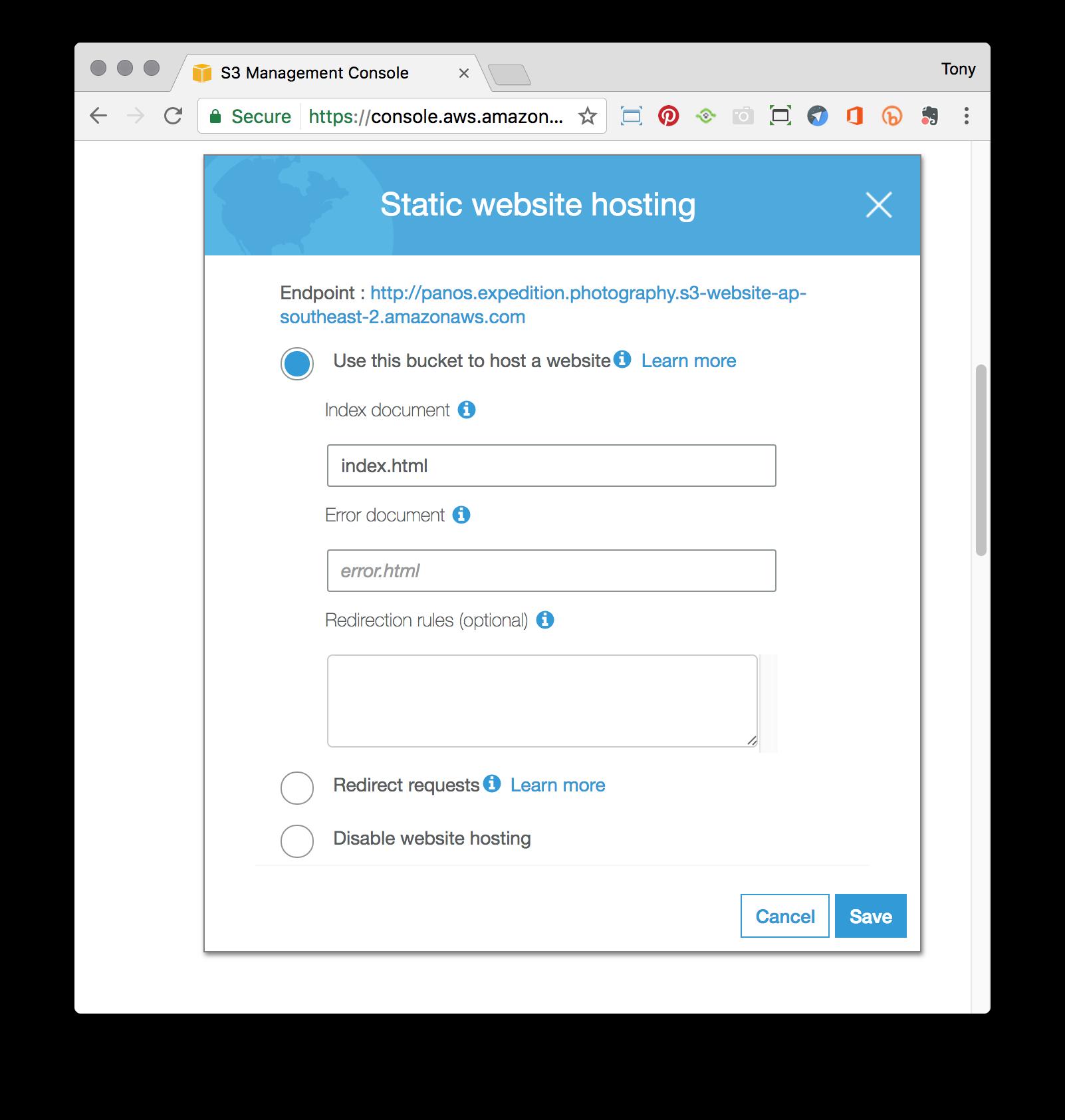 static_website_setup