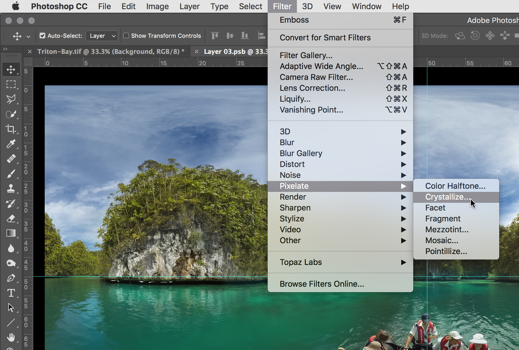 Image #3 -Selecting the Filter