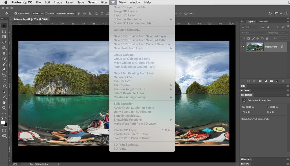 3D Menu Greyed out in Photoshop — tony redhead