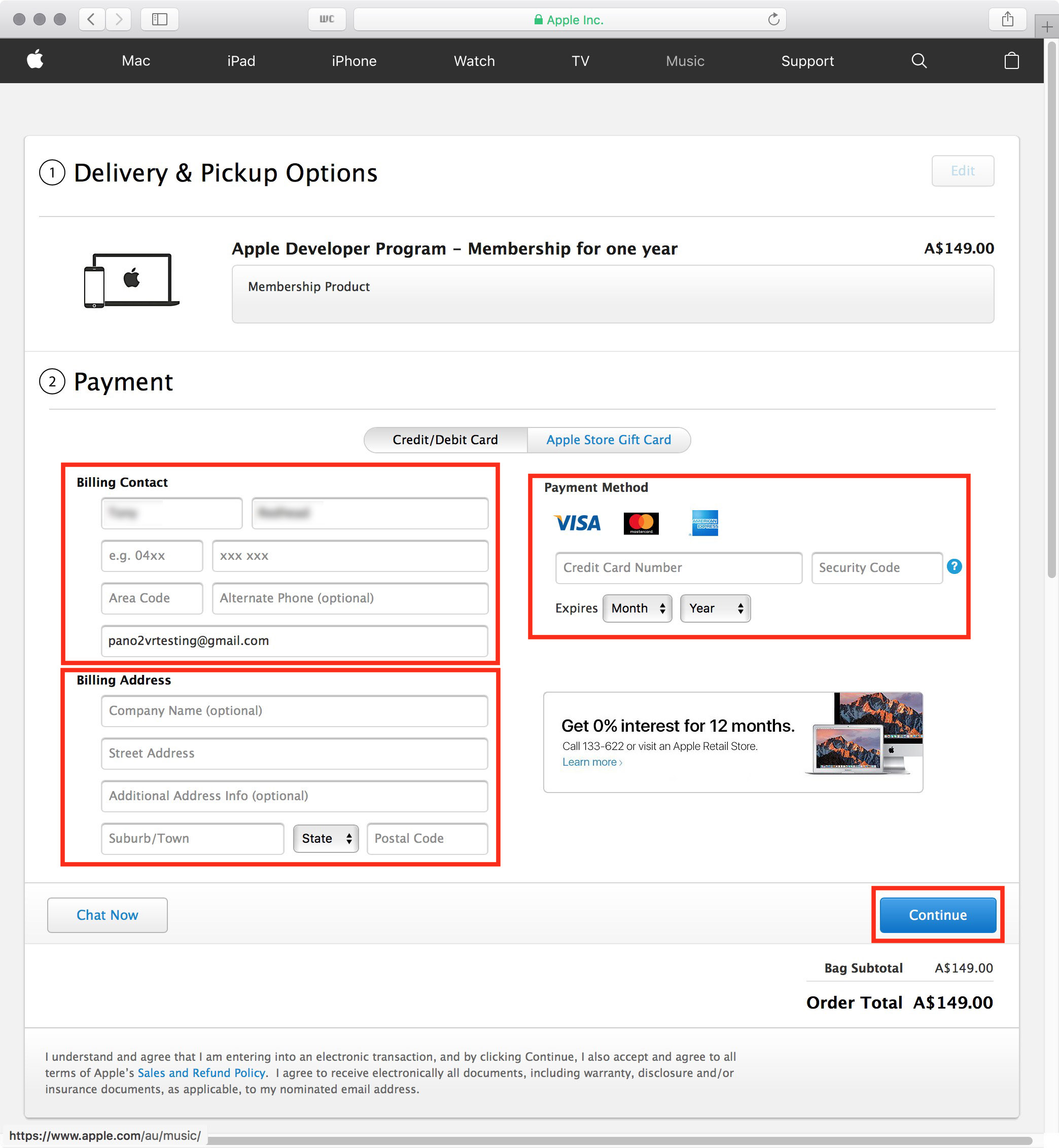 figure #19: Payment Screen