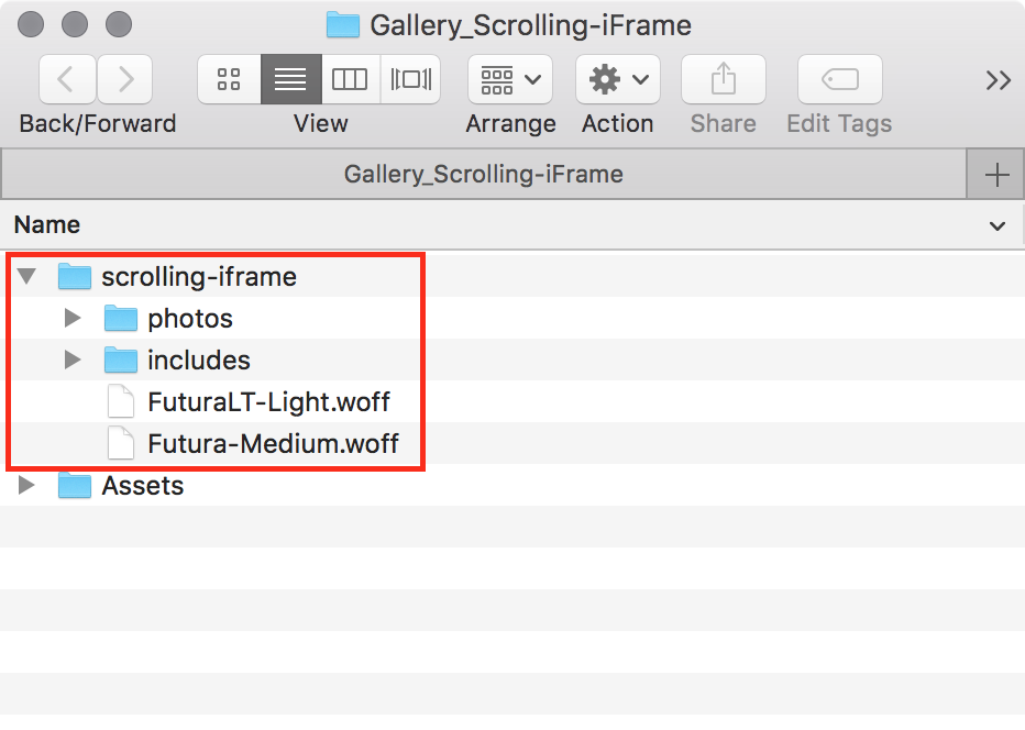 Scrolling iFrames in a Gallery Component - Part 1 — tony redhead