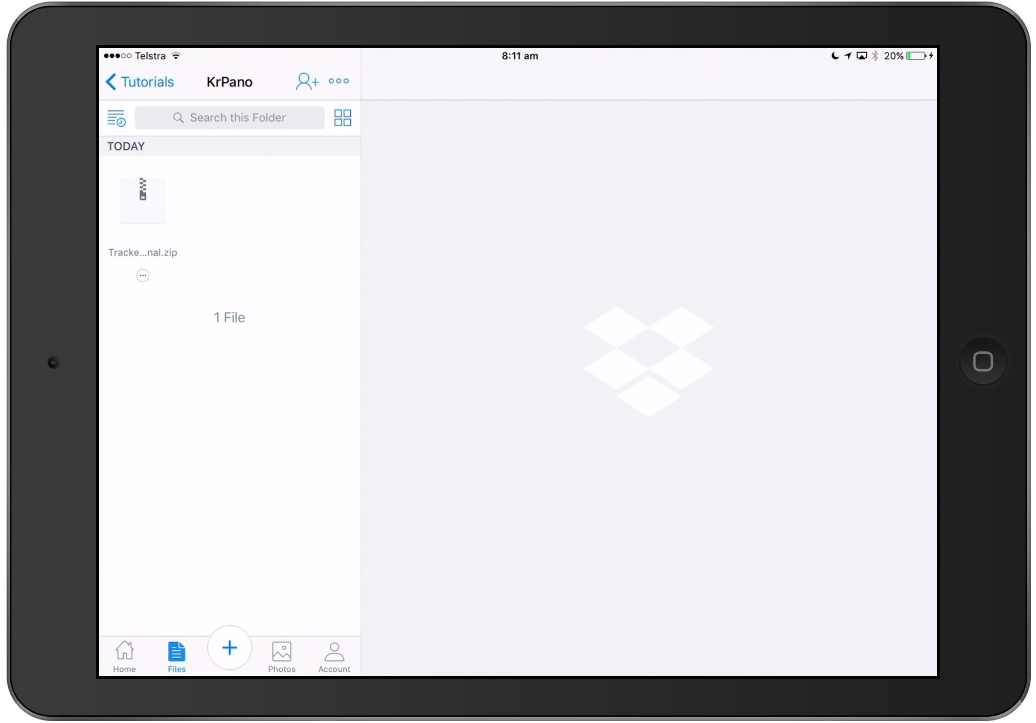 Dropbox on the iPad