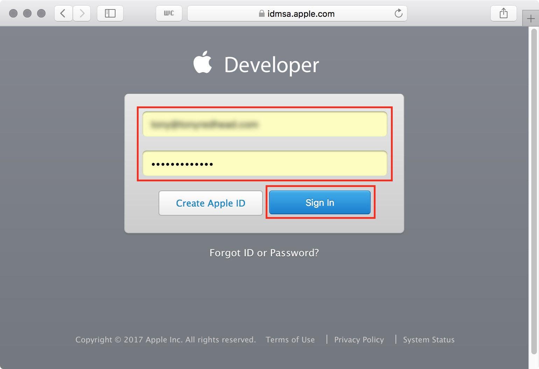 figure #2: Apple Account login