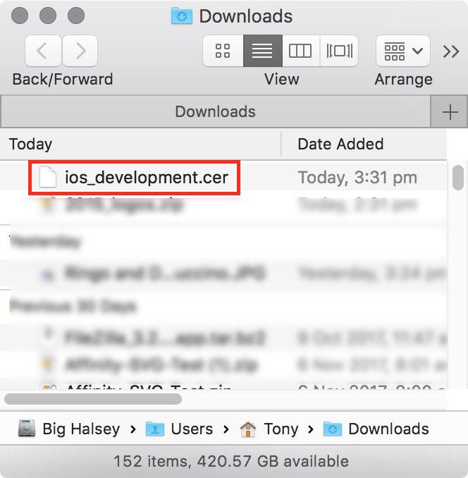 figure #20: Downloads folder