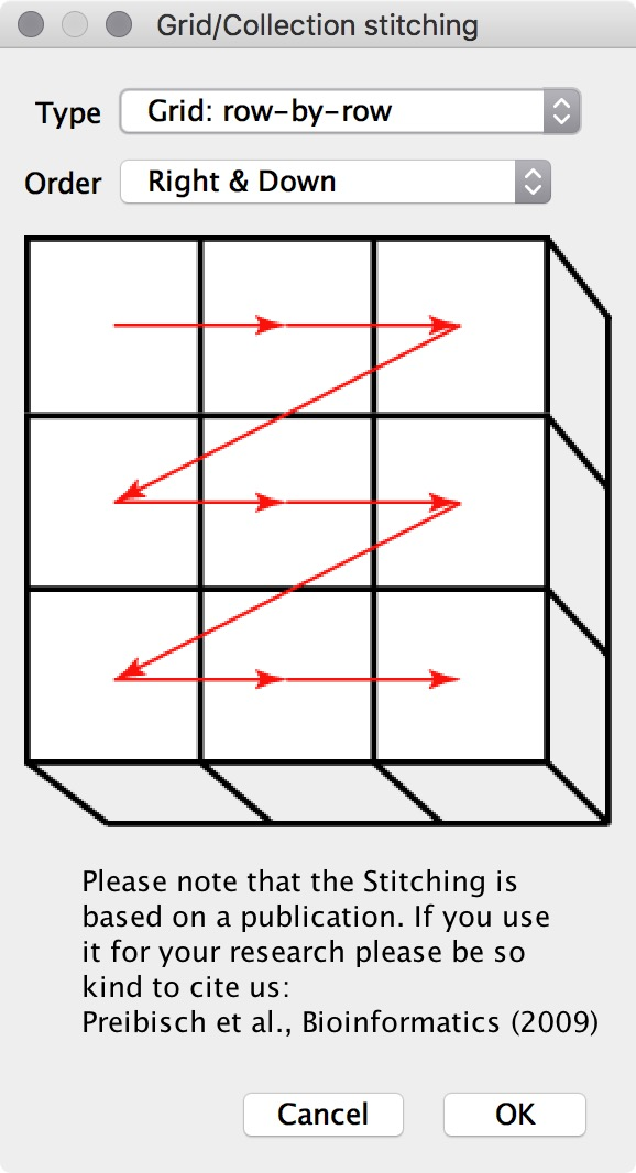 figure #3: Grid/Collection stitching window