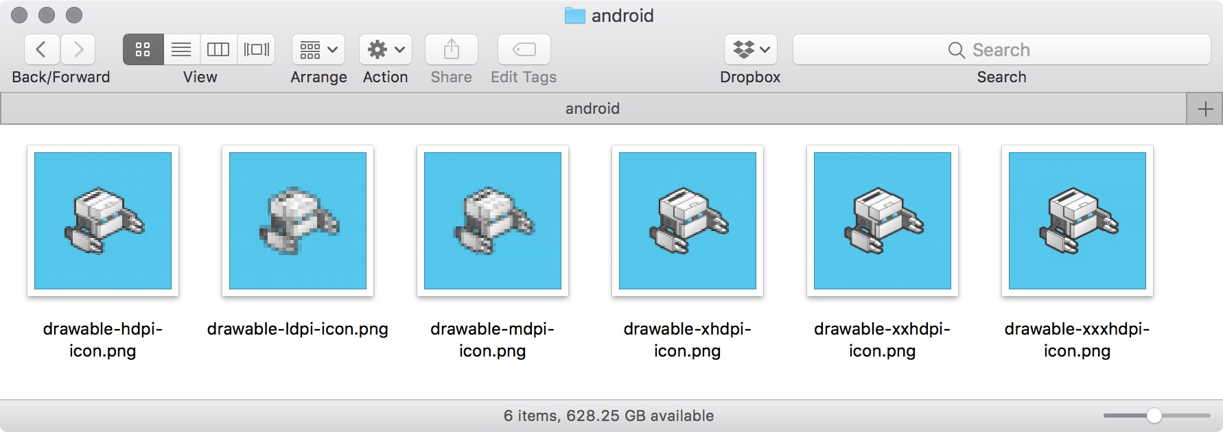 figure #3: Android icons
