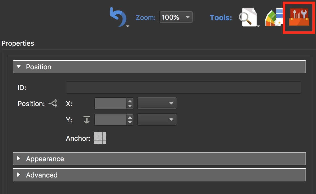 Figure #12: Component Toolbox button