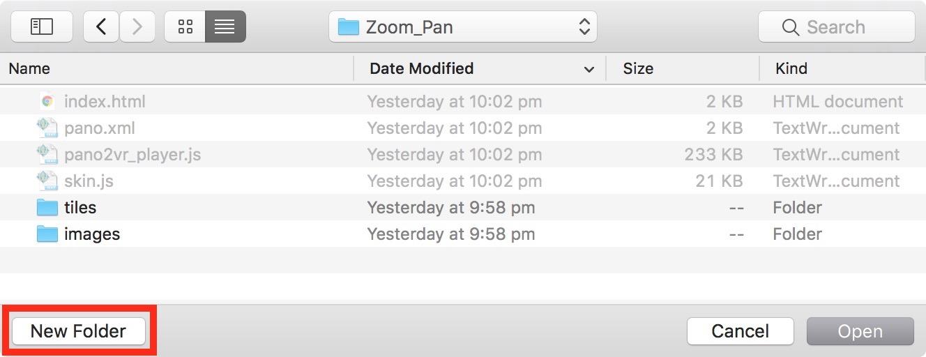 Figure 7: Select 'New Folder'