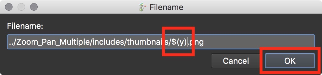 Figure #27: filename with placeholder