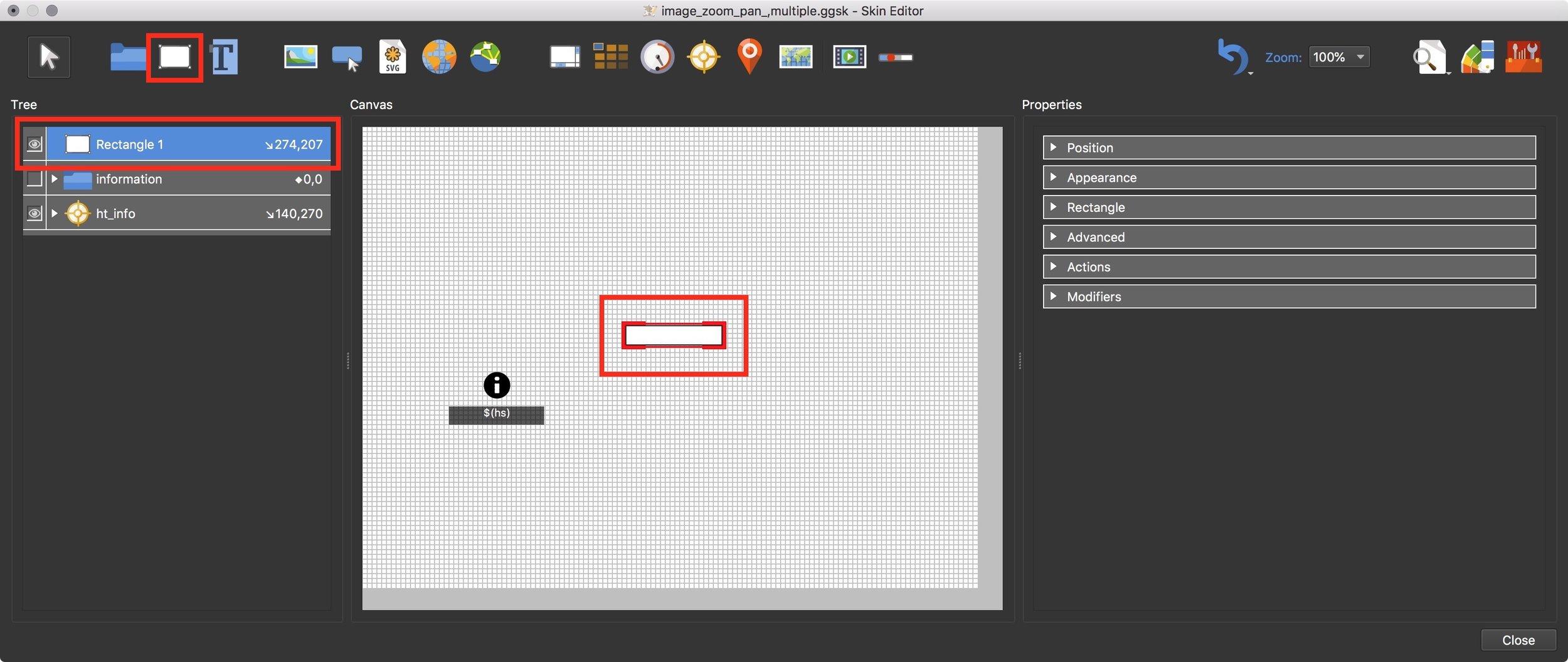 Figure #15: Add rectangle