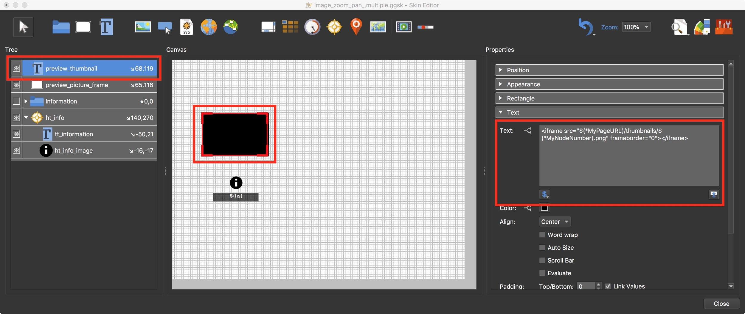 Figure #21: set path to load thumbnail images
