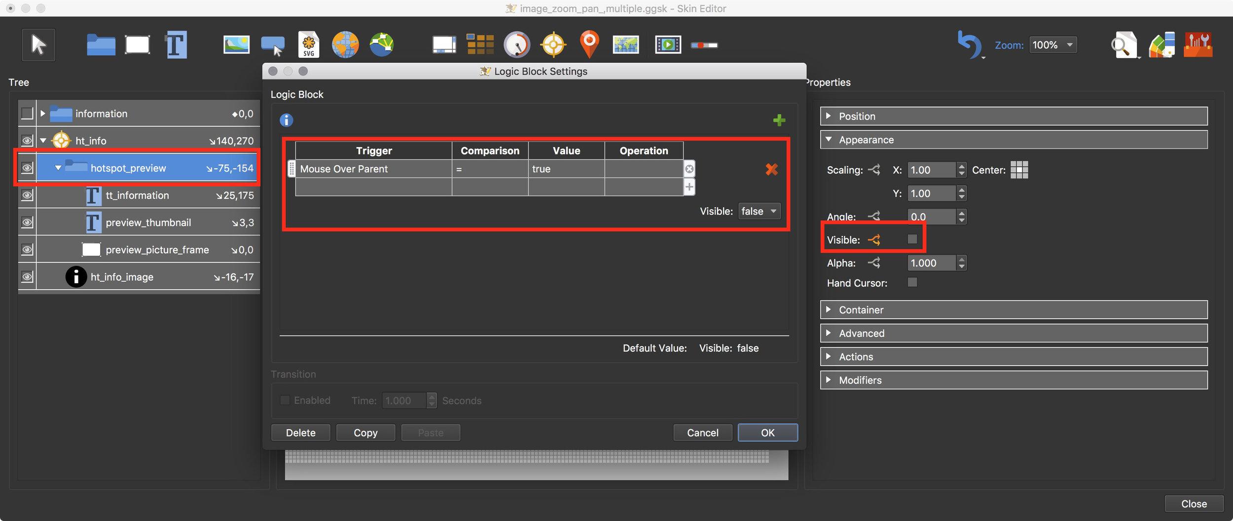 Figure #29: hotspot_preview settings & logic block
