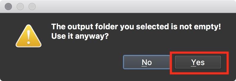 Figure #43: Select 'Yes'