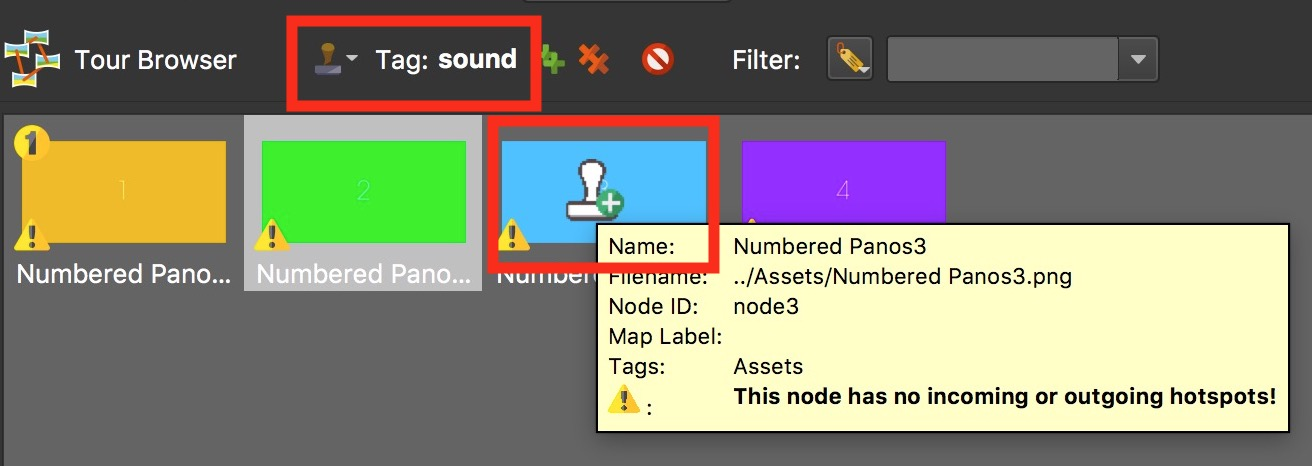 Figure #5: Using the Tag Stamp to add the 'sound' tag