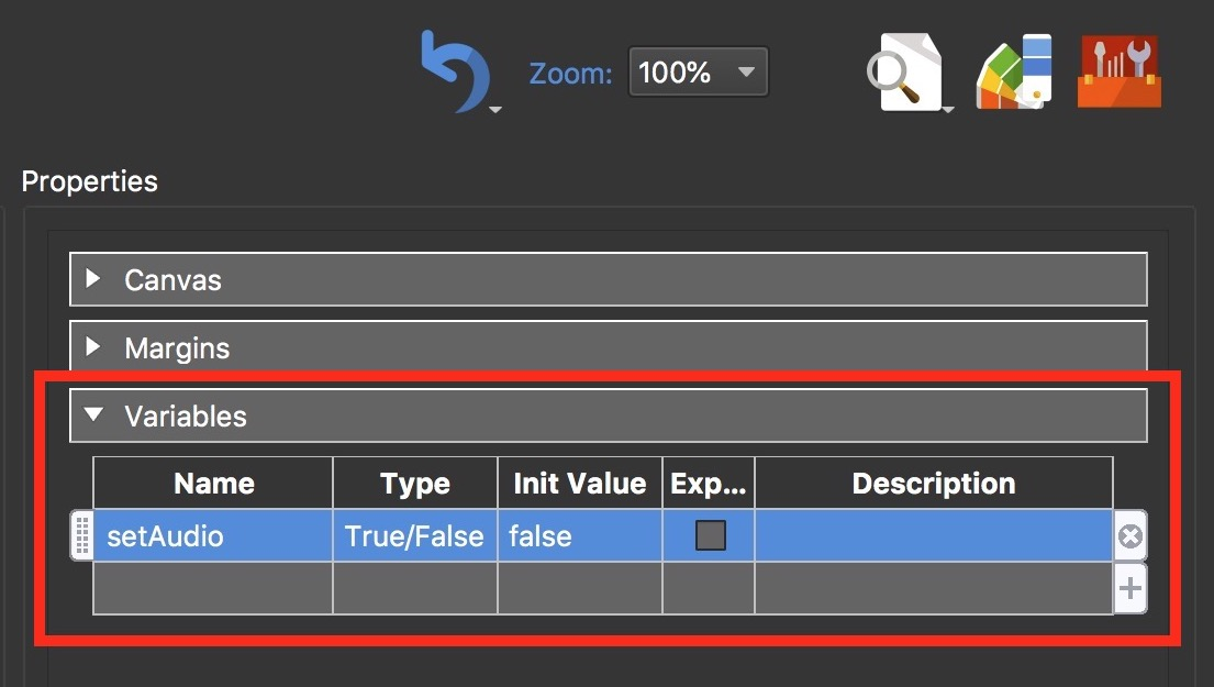 Figure #12: Create new 'setAudio' variable