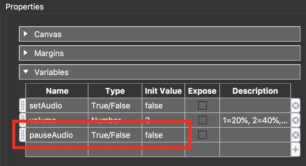 Figure #25: new 'pauseAudio' variable