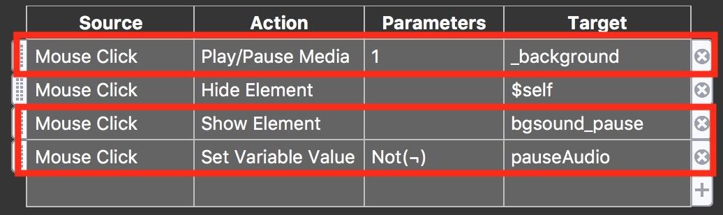 Figure #28: (above) original Actions (below) updated Actions