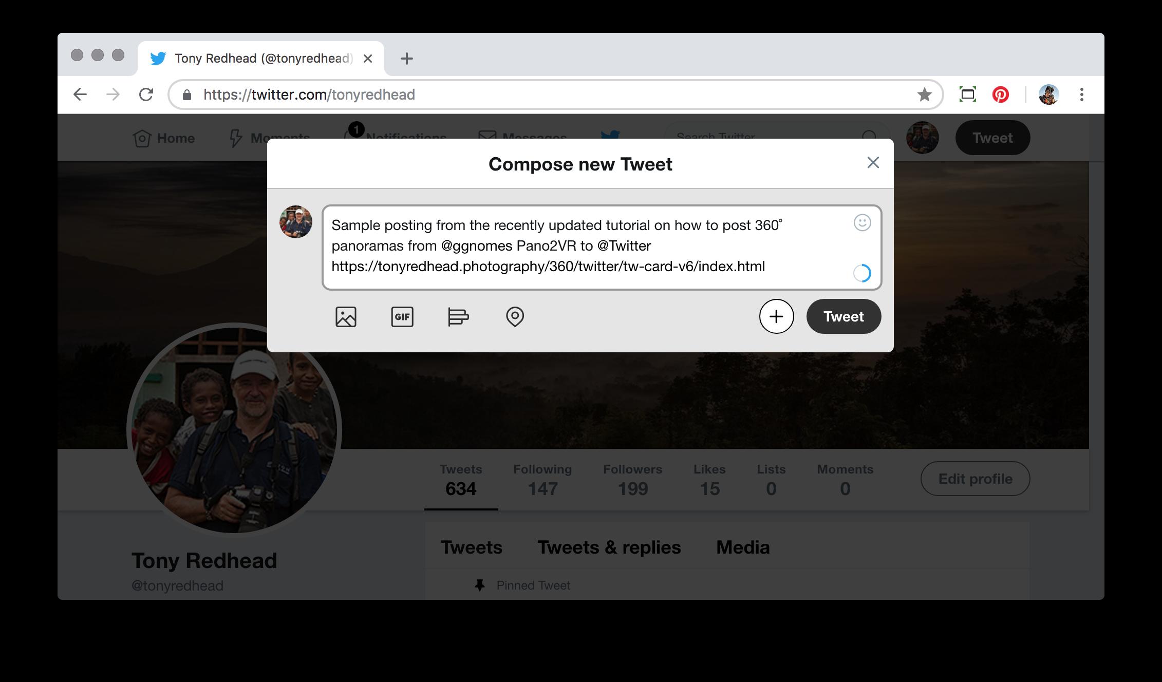 Figure #11: Compose new Tweet