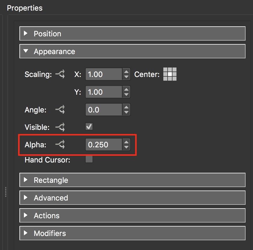 Figure #15: Screen-tint-block alpha setting