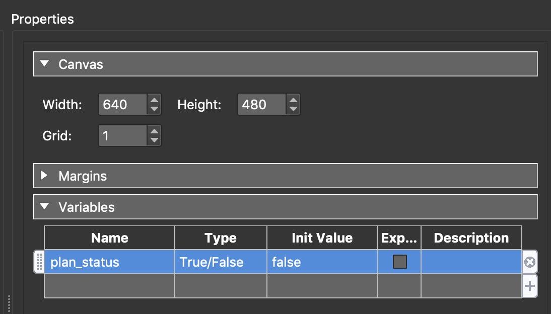 Figure #3: Variable settings