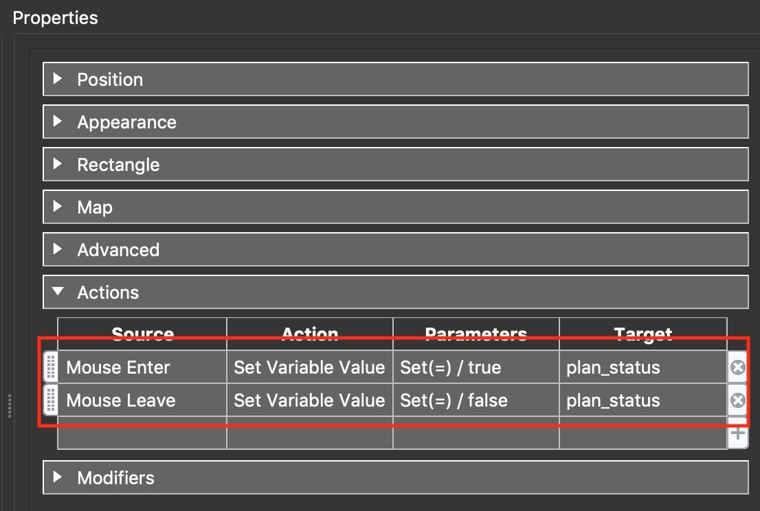 Figure #6: Floorplan Element Actions