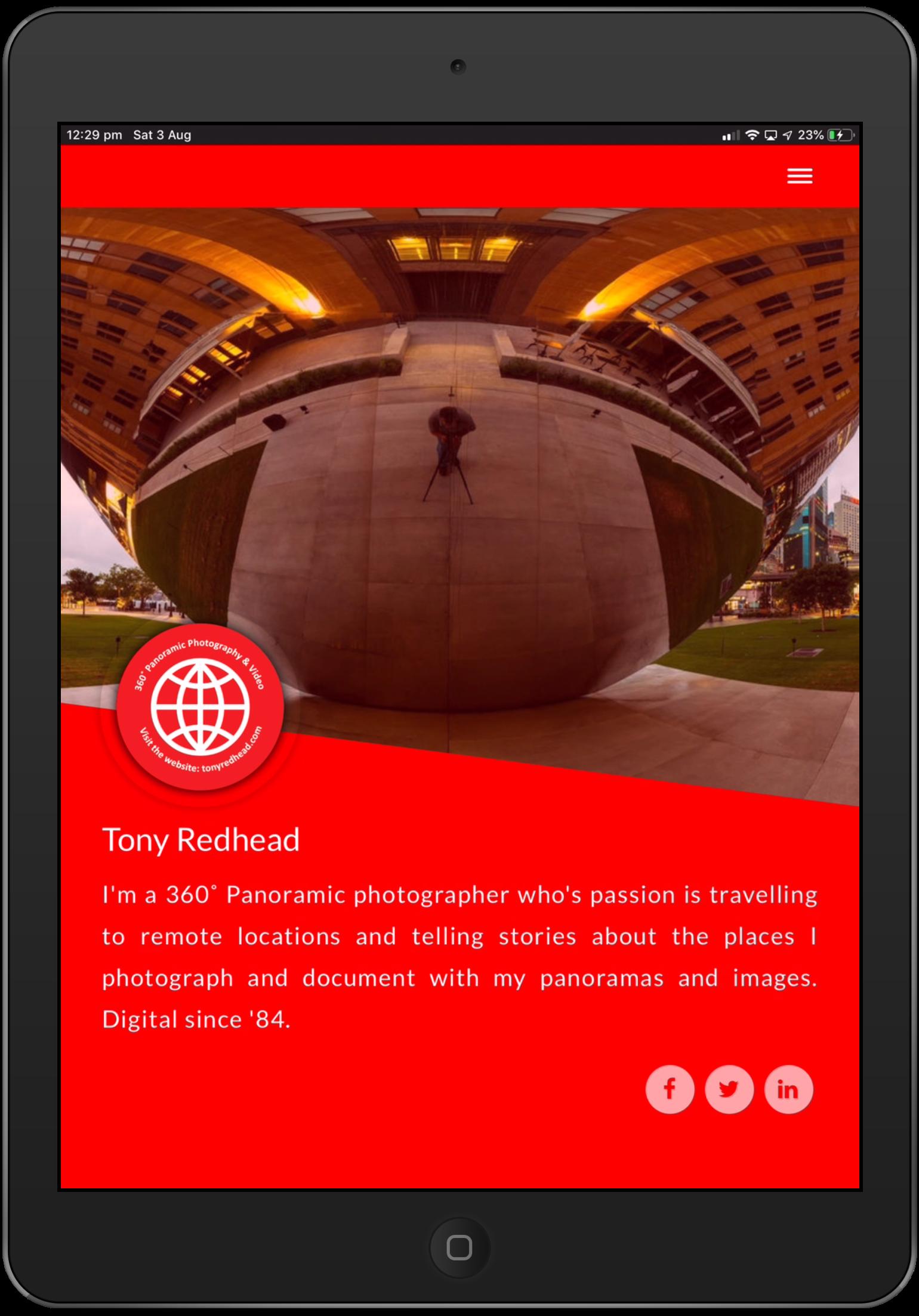 iPad Profile Screen - Style 2