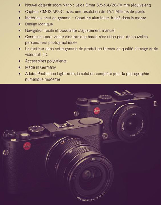 Leica Mini M Specifications