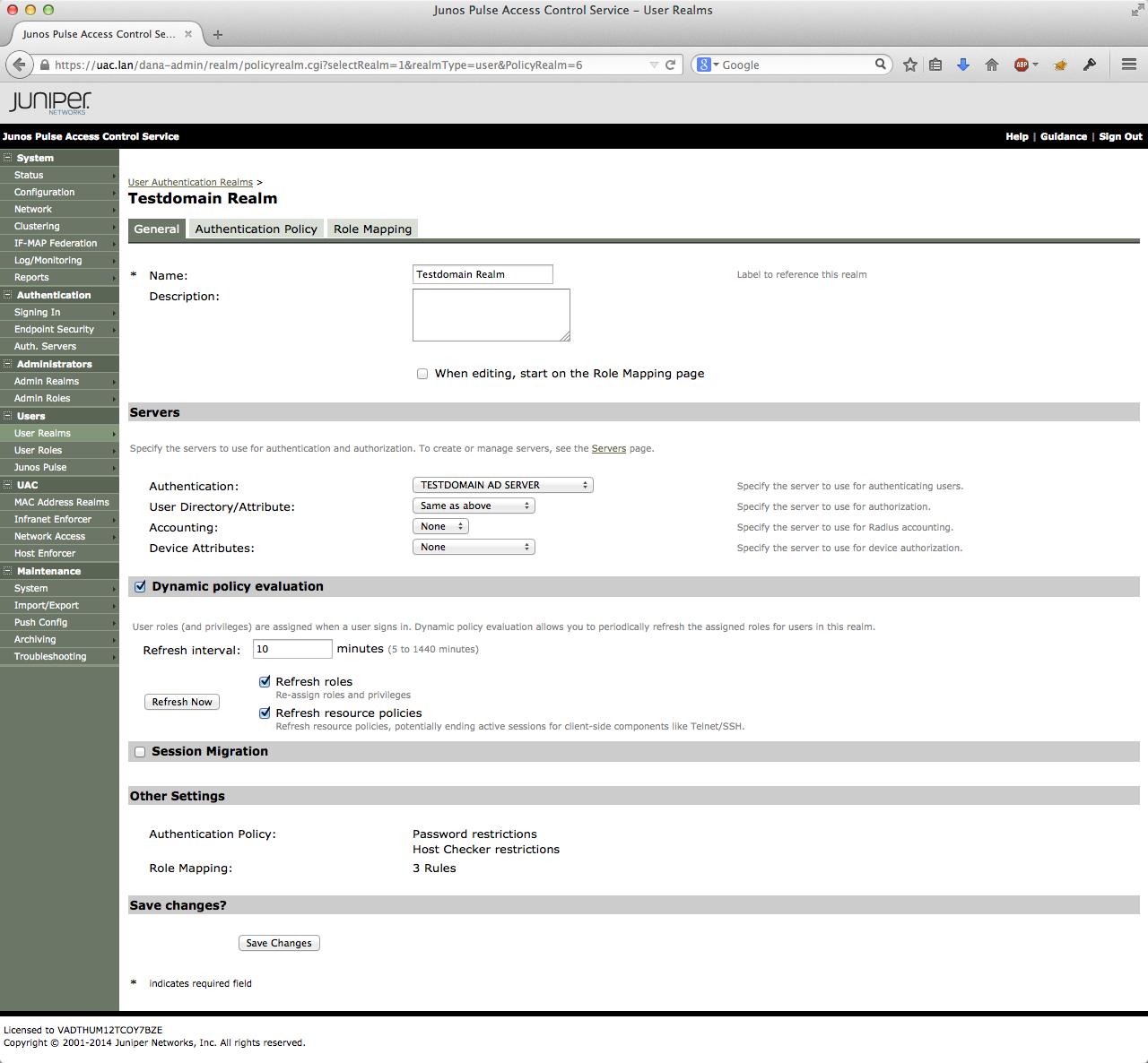 Juniper Unified Access Control With Junos Pulse — REDELIJKHEID