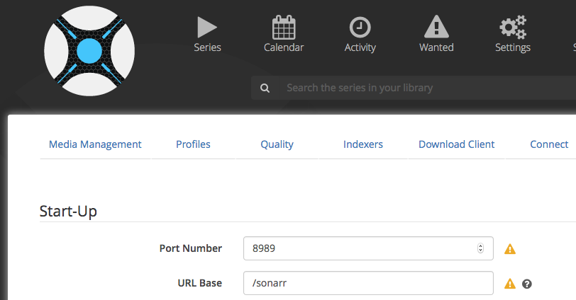 Reverse Proxy Settings for Sonarr