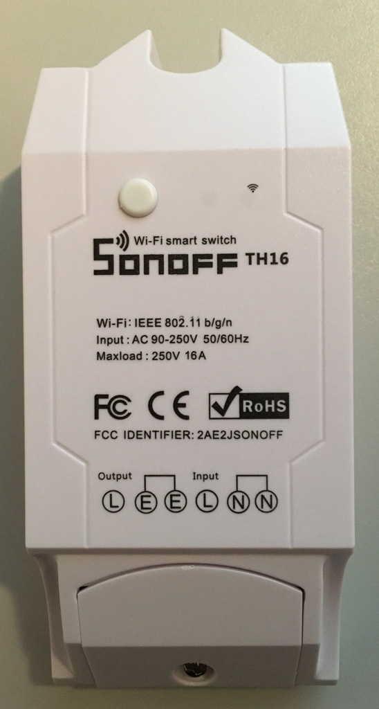 Flashing the Sonoff TH16 Wireless Switch — REDELIJKHEID