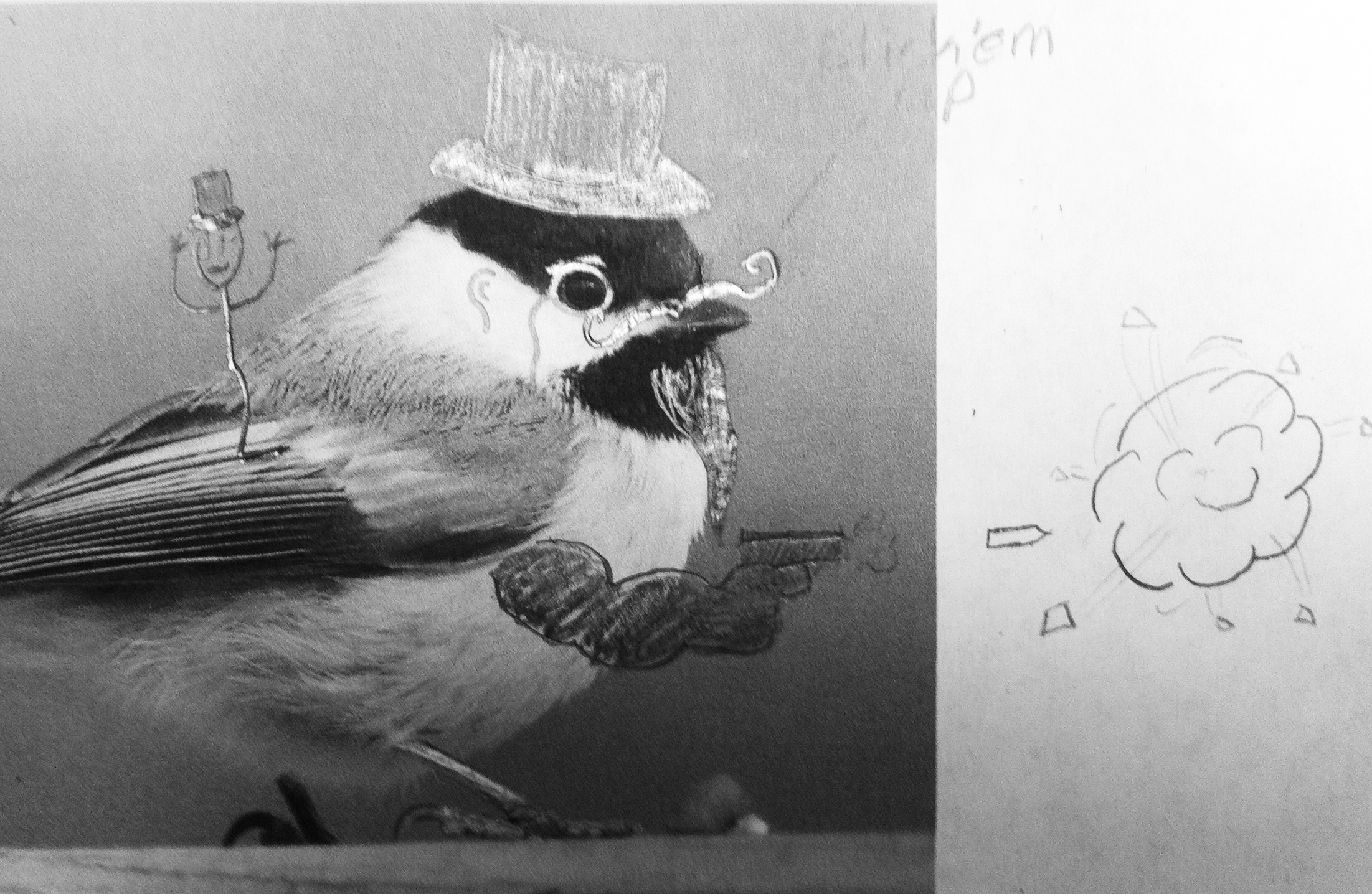 Kings doodled chickadee.JPG