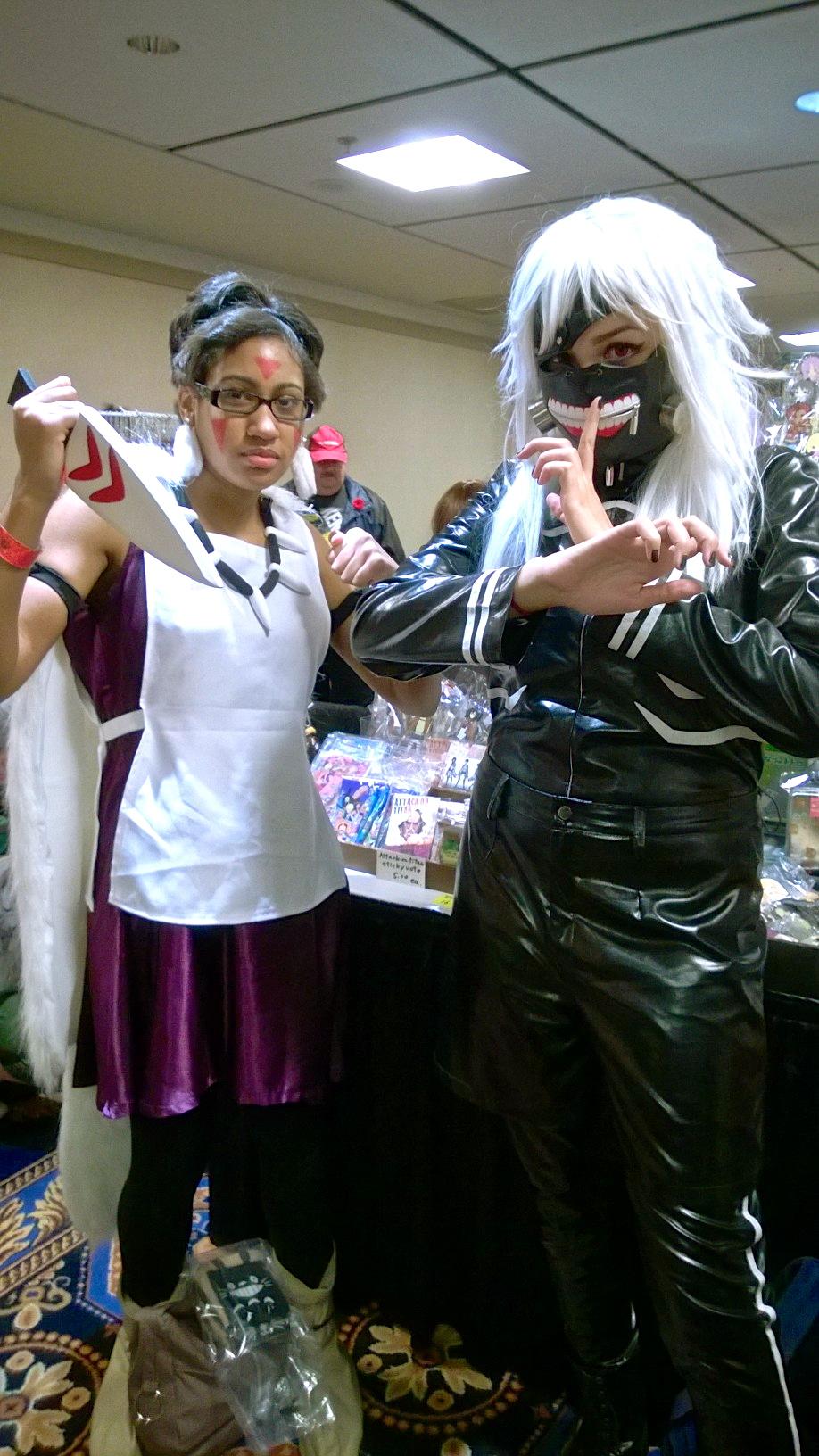 Princess Mononoke & Kaneki from Tokyo Ghoul