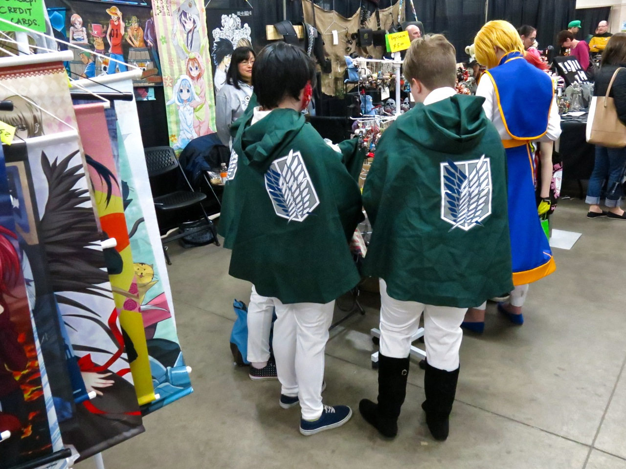 The  Attack On Titan  Survey Corps descended on our booth!